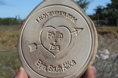 Carved text on disk