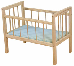 DP112 Dolls Cot & Mattress Image