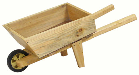 WT109 Wheelbarrow (wood frame + wood box) Image